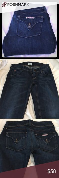 Hudson Collin skinny jeans, dark wash, size 25. A few years old, good condition, no rips or holes. Loose-ish fit. Hudson Jeans Jeans Skinny