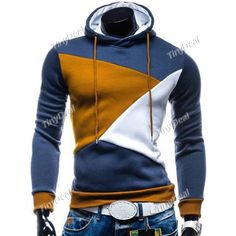 Spring/Autumn Winter Casual Pure Cotton Color Blocking With Hoodie The Sleeve Head Hoodie for Boy Men DCD-380242