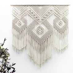 Here comes my big 'MAJA' Extra large macrame wall hanging. Available in my Etsy shop. Have a great day #macramewallart #macrameartist…