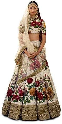Zeel Clothing Silk Lehenga Choli (ZC7019_Beige_Free Size ): Amazon.in: Clothing & Accessories