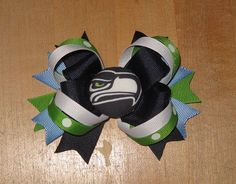 Seattle Seahawks Boutique Spike Hairbow