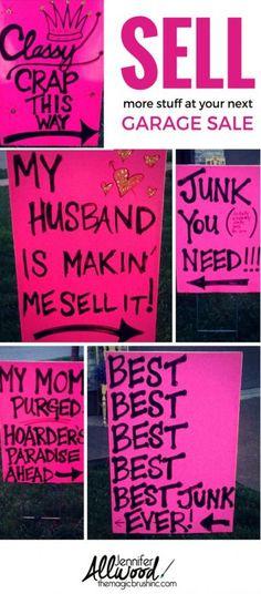 69 Best Garage Sale Humor images in 2019 | For sale sign