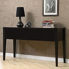 @Overstock - Ridgeline console table will add a touch of sophistication to your home decor Sturdy furniture is made of solid rubberwood Luxurious accent table includes two drawershttp://www.overstock.com/Home-Garden/Ridgeline-Console-Table/3419038/product.html?CID=214117 $297.80