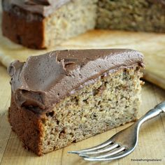 Banana Cake with Nutella Buttercream ~T~ Love this cake. Make sure to use very ripe bananas for great banana flavor. The combo of banana and Nutella is wonderful.