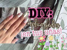 UÑAS DECORADAS: Cómo aplicar sedas en las uñas (+DISEÑO) - YouTube