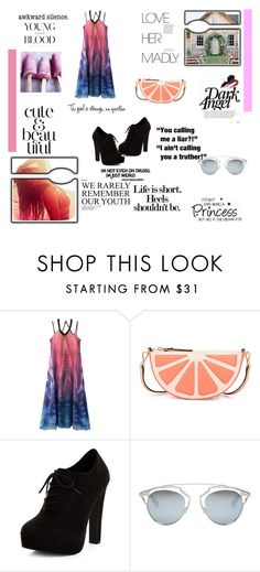 """Summer Look"" by surfernurd ❤ liked on Polyvore featuring WithChic, Kate Spade, New Look, Christian Dior, Humör and summerlook"