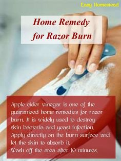 Home Remedy for Razor Burn #vinegar #homeremedy #shaving