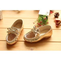 Buy Gold Sequin Flower Girl Girls Pageant Evening Party Shoes Cheap  SKU-133155