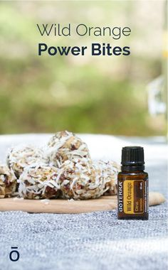 Snack time doesn't have to be boring! Try these Wild Orange Power Bites for a treat that provide an extra boost of energy. Paleo Recipes, Snack Recipes, Paleo Food, Essential Oils For Kids, Orange Oil, Energy Bites, Doterra Essential Oils, Diy Food, Just Desserts