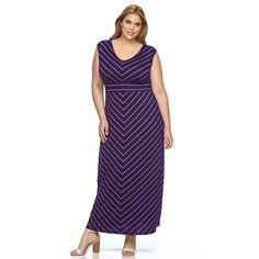 Apt 9 striped maxi dress and sneakers