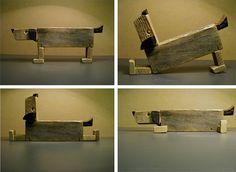 Esculturas con trozos de madera reciclados - Scultures with Recycled pieces of wood