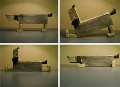 Esculturas con trozos de madera reciclados - Scultures with Recycled pieces of wood