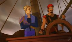 Steve Rogers and Tony Stark: Pirate AU.  I can get behind this.