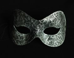 Antique look silver lace mask, The Costume Shop, Melbourne