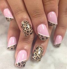 Opting for bright colours or intricate nail art isn't a must anymore. This year, nude nail designs are becoming a trend. Here are some nude nail designs. Fancy Nails, Trendy Nails, Pink Nails, Pink Pedicure, French Pedicure, Pedicure Ideas, Colorful Nail Designs, Nail Art Designs, Leopard Print Nails