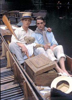 Anthony Andrews  and Jeremy Irons, Sebastian and Charles, Brideshead Revisited, 1981