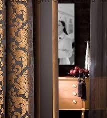 Bilderesultater for copper curtains Curtain Fabric, Door Handles, Curtains, Sconces, Furnishings, Interior, Prestigious Textiles, Candle Sconces, Home Decor
