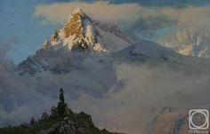 Vladimir Babić picture: 17 thousand images found in Yandeks. Landscape Art, Landscape Paintings, Mountain Landscape, Acrylic Paintings, Environment Painting, Mountain Paintings, Traditional Paintings, Artist Painting, Impressionist