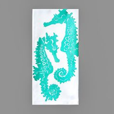 Sea Horses. Illustration. Water Color.