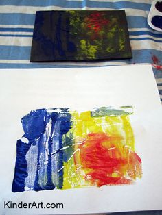 KinderArt® Blog - Art Lessons and Lesson Plans for Kids (Toddler, Preschool, Elementary and Beyond): Printmaking? Yes you can!