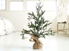 Christmas Tree, Snow White Christmis Garland and Mini Christmas Tree, Felted Ball Garland, High Quality
