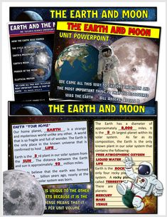 Welcome to a very engaging PowerPoint covering the Earth and the moon. Each slide comes to live and will excite and bring to life the content in a unique way where your students will stay engaged throughout the entire unit. Learn all about how the moon and earth was created, their characteristics, and the lunar phases. Moon Unit, Presentation Format, Powerpoint Animation, Lunar Phase, Science Education, Teacher Newsletter, How To Memorize Things, Students, The Unit