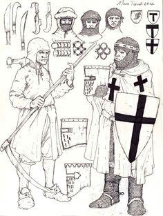 fante del contado, cavaliere teutonico Medieval Life, Medieval Armor, Medieval Fantasy, Medieval Clothing Men, Medieval Peasant, Crusader Knight, Larp Armor, Suit Of Armor, Fantasy Armor