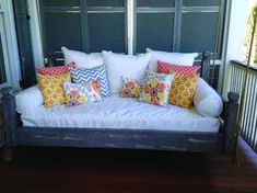 50 Fun and Attractive Swing Bed Porch Design Ideas Porch Bed, Diy Porch, Porch Ideas, Patio Ideas, Patio Swing, Bed Lights, Low Country, New Homes, Bed Swings