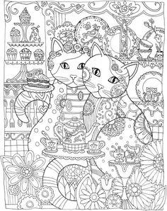 Freebie: Cat Mandala Coloring Page                                                                                                                                                                                 More