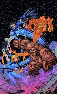 Jim Lee Milestone #5 - Marvel seeking a marketing strategy requests Jim Lee and other former Marvel artist to lead on Marvel's Heroes Reborn series where Jim Lee redesigns the Fantastic Four in an alternate universe of Marvel's heroes.