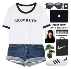 """""""Brooklyn"""" by ladyturquoise8 ❤ liked on Polyvore featuring Zara, adidas Originals, Sephora Collection, Threshold and NARS Cosmetics"""