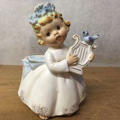 Lefton Angel Planter Angelica with Harp - angelica 2977 - | eBay