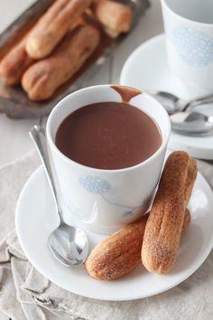 European style hot chocolate. The consistency is almost like what we Americans know as pudding- but deliciously warm, and deeply chocolatey. OMG can't wait to make this!