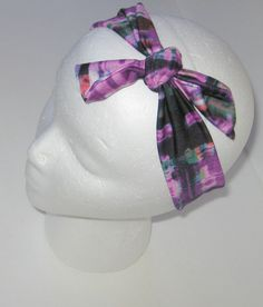Tie Knot Headband, Purple Mix Headband, Tied Knot Headband, Tie Headband, Tied  Headband, Girl's Headband, Headband, Baby Girl Headband