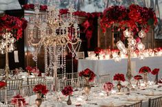 Not always a white wedding:Anna Wang, founder of Anna Wang styling, says blacks, reds and golds are 'massive' at the moment and come through in the majority of wedding colour schemes.