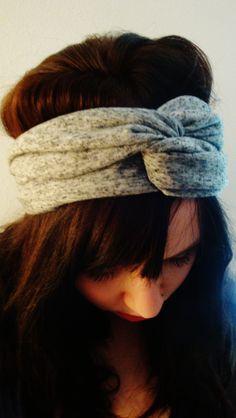 Heather Grey Turban Headband by ImpassionCreations on Etsy, $12.00