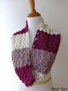 The Raspberry Buttercream Infinity Scarf is a luxurious, lacy and stunning scarf to add to your wardrobe this season. It is fun and easy to crochet and the lace pattern is engaging as well. This scarf makes a lovely gift, but be sure to make one for yourself too!