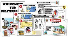 Piratenschatzsuche: Schnitzeljagd auf den 7 Weltmeeren 4-6 Jahre