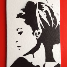 brigitte bardot handcut stencil  spray paint on canvas (13x18 cm)