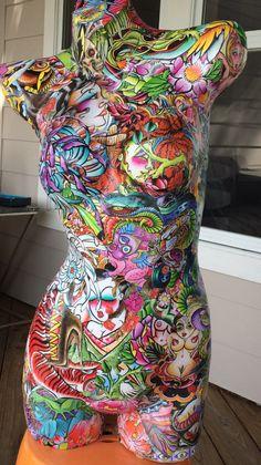 Pop Art Mannequin by GlicksPicks on . Mannequin Torso, Mannequin Art, Tattoo Studio, Sculpture Art, Sculptures, Art Moderne, Tattoo Shop, Graffiti Art, Mosaic Art
