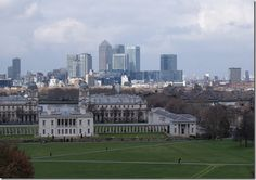View of the city from Greenwich, London