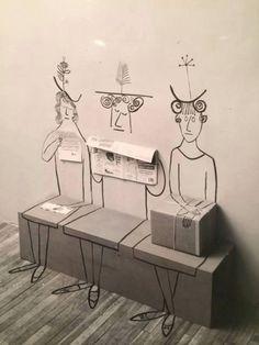 icancauseaconstellation: Saul Steinberg - Sala de espera