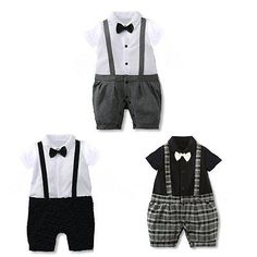 Newborn Infant Kids Baby Boy Gentleman Romper Jumpsuit Bodysuit Clothing Outfits
