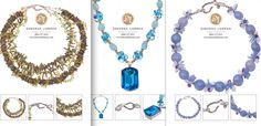 Pearls, citrine, peridot and sterling, Blue topaz and aquamarine, lilac chalcedony