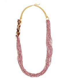 Nature's Calling Statement Necklace - Light Pink