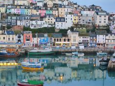 Down by the sea: Brixham -a fishing village in Devon British Seaside, British Isles, Great Places, Places To See, Things To Do In Cornwall, Boat Pics, Places In England, South Devon, English Village