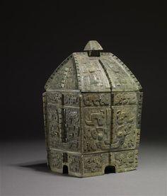 Bronze ritual vessel of the type fang yi | China | Shang Dynasty