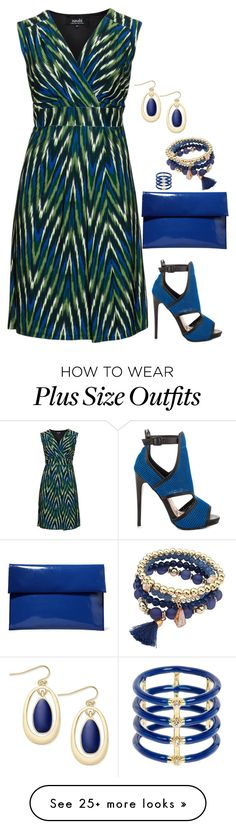 """Plus dress"" by kneesaasmom on Polyvore featuring navabi, Steve Madden, Marni, Elizabeth and James and INC International Concepts"