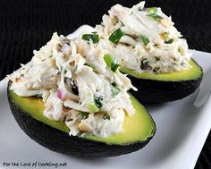 Cilantro and Lime Crab Salad in Avocado Halves