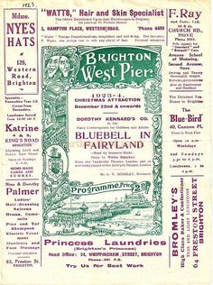 A programme for Bluebell in Fairyland at the West Pier, Brighton in 1923.